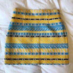 ZARA Patterned High Waisted Mini Skirt